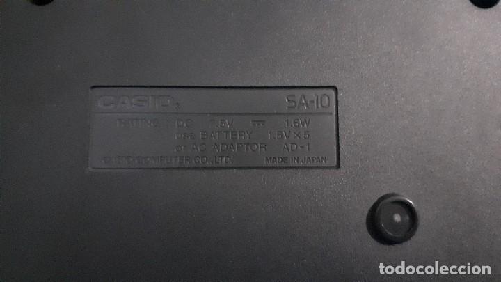 Instrumentos musicales: Organo teclado casio. Tone bank SA-10. Funcionando. - Foto 9 - 234826510