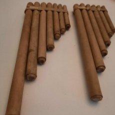 Instrumentos musicales: LOTE. DOS ZAMPOÑAS O FLAUTAS DEL PAN. ETNICO. PERÚ.. Lote 235457130