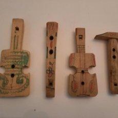 Instrumentos musicales: LOTE. 4 PITOS U OCARINAS ETNICOS. YUGOSLAVIA. FINALES XX.. Lote 235460065