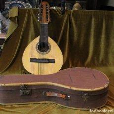 Instrumentos musicales: BANDURRIA, 60 X 28 CM, TELESFORO JULVE, VALENCIA, COMPLETA. Lote 235577710