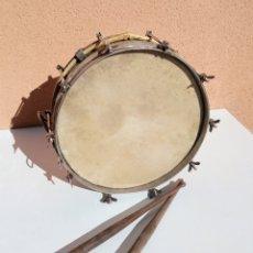 Instrumentos musicales: TAMBORIL, TAMBOR, REDOBLANTE, ANTIGUO ACOMPAÑANTE DE DULZAINA. Lote 235680165