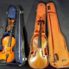 Instrumentos musicales: DOS VIOLINES CON CAJAS. SIGLO XX.. Lote 235990385