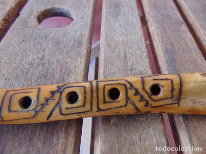 Instrumentos musicales: ANTIGUA FLAUTA REALIZADA EN HUESO OSO ?? - Foto 7 - 247817535