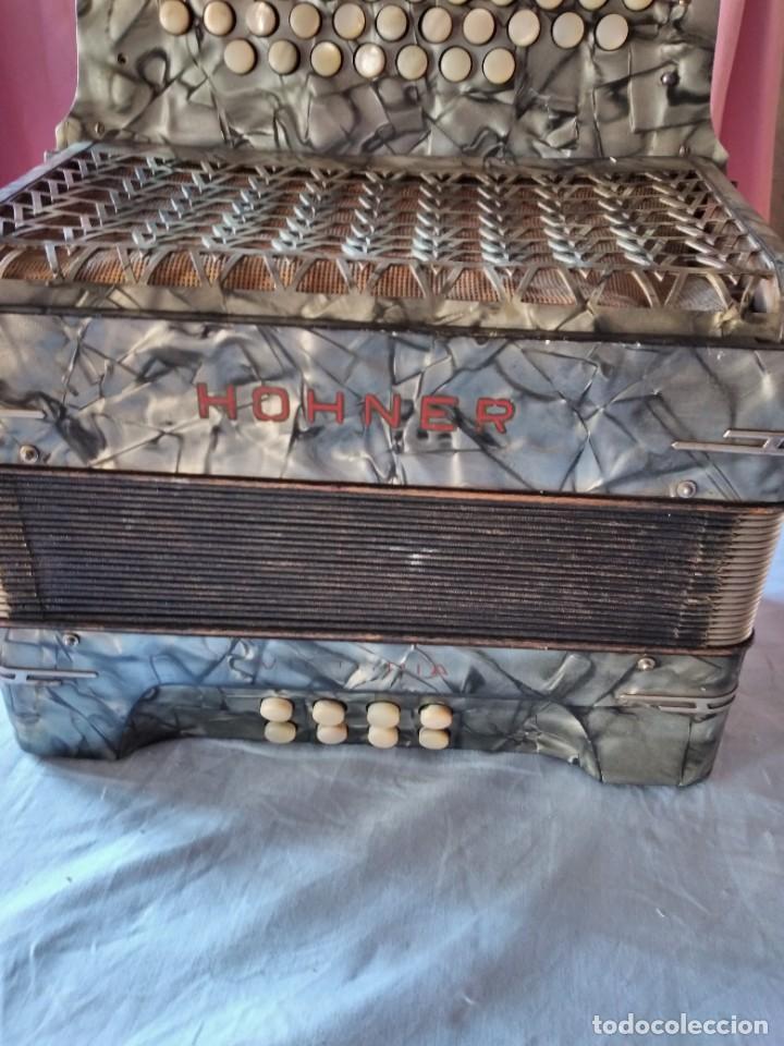 Instrumentos musicales: concertina acordeón Hohner Club II B victoria botón,germany - Foto 2 - 236054900