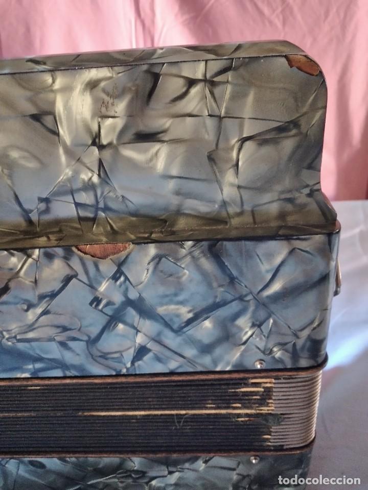 Instrumentos musicales: concertina acordeón Hohner Club II B victoria botón,germany - Foto 10 - 236054900