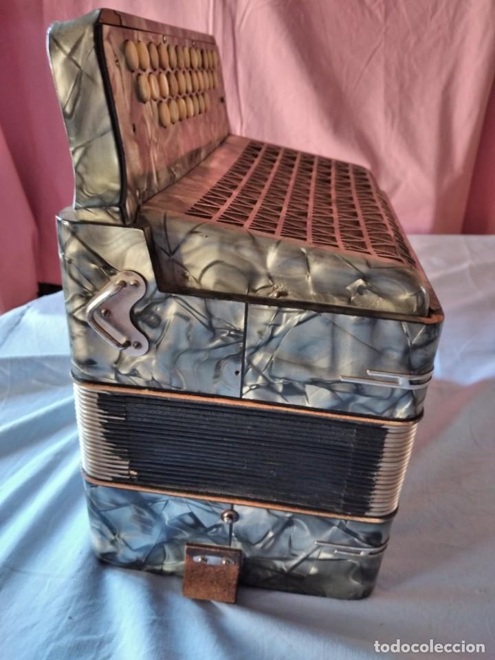 Instrumentos musicales: concertina acordeón Hohner Club II B victoria botón,germany - Foto 12 - 236054900