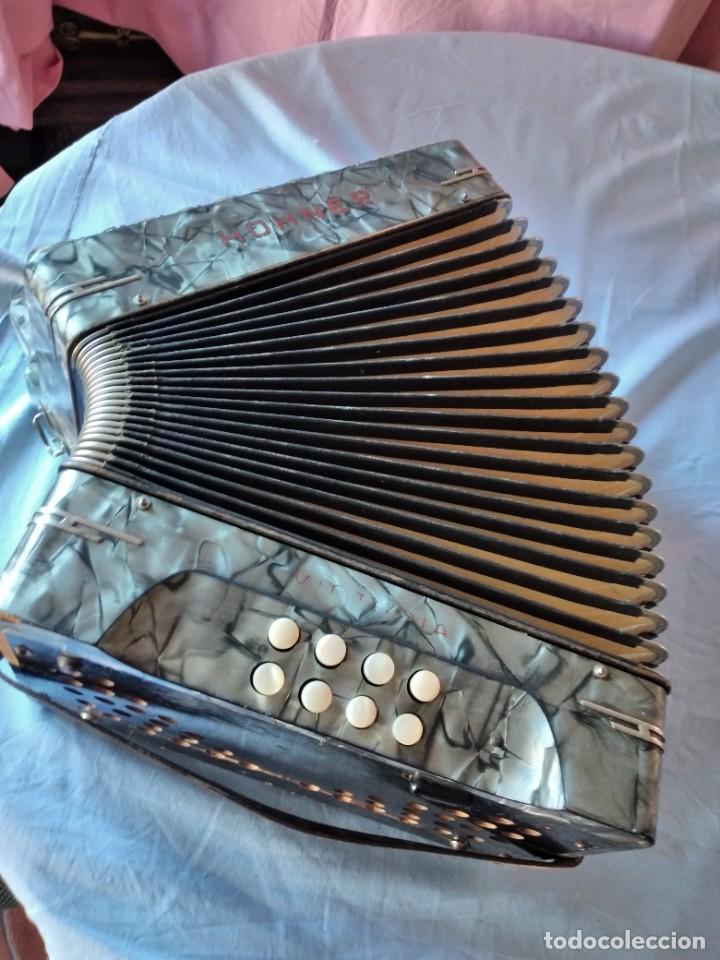 Instrumentos musicales: concertina acordeón Hohner Club II B victoria botón,germany - Foto 13 - 236054900