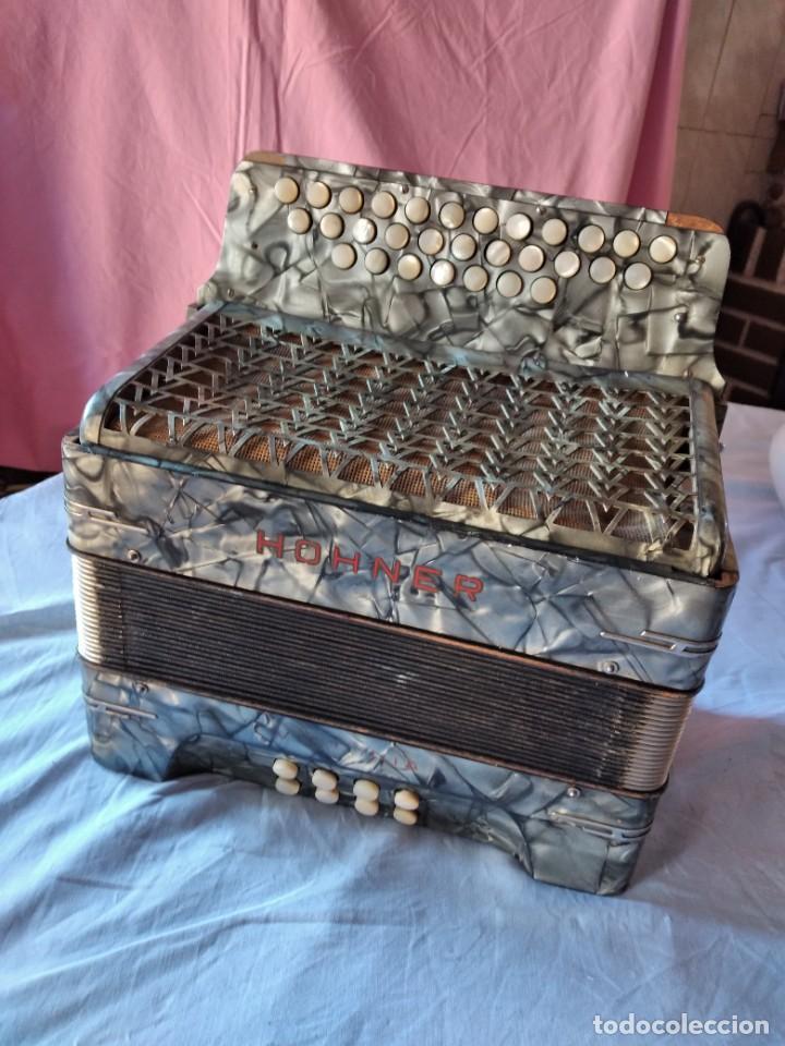 Instrumentos musicales: concertina acordeón Hohner Club II B victoria botón,germany - Foto 17 - 236054900