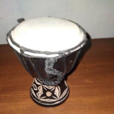 Instrumentos musicales: PEQUEÑO BONGO DE MADERA 14 CM. Lote 236258645