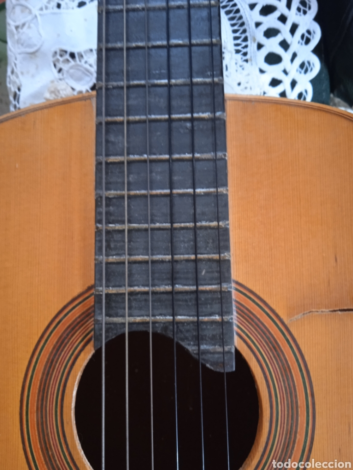 Instrumentos musicales: antigua guitarra española instrumentos musicales casa David gijon - Foto 7 - 236542885