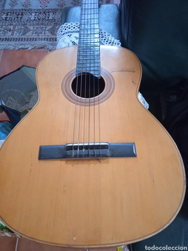 ANTIGUA GUITARRA ESPAÑOLA INSTRUMENTOS MUSICALES CASA DAVID GIJON (Música - Instrumentos Musicales - Guitarras Antiguas)