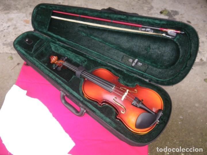 VIOLIN EN BUEN ESTADO DE LA CONOCIDA MARCA MAXTONE VERR (Música - Instrumentos Musicales - Cuerda Antiguos)
