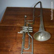 Instrumentos musicales: ANTIGUO TROMBON DE PISTONES COUESNON & CIE PARIS Nº 53942. Lote 237660605