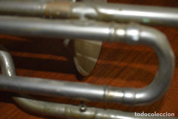 Instrumentos musicales: ANTIGUO TROMBON DE PISTONES COUESNON & CIE PARIS Nº 53942 - Foto 14 - 237660605