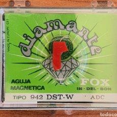 Instrumentos musicales: AGUJA TOCADISCOS FOX/ADC - 942 DST-W/DIAMANTE. Lote 237868345