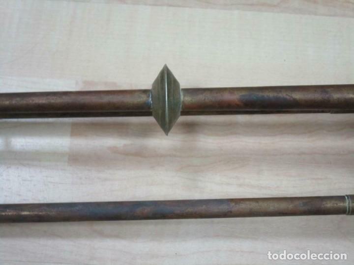Instrumentos musicales: ANTIGUA FANFARRIA TROMPETA TROMPA BRONCE O LATON SIGLO XVII-IXIX 73 CM long 14 cm Ø - Foto 2 - 237924630