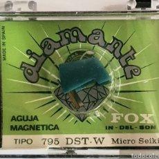 Instrumentos musicales: AGUJA TOCADISCOS FOX- MICRO SEIKI - 795DST-W/DIAMANTE. Lote 238295380
