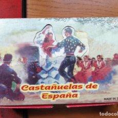 Instrumentos musicales: CASTAÑUELAS DE ESPAÑA, FABRICADAS EN MADERA. ARTESANÍA TARREGA.. Lote 240029520