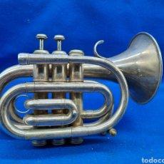 Instrumentos Musicais: ANTIGUA TROMPETA POCKET BAÑADA EN PLATA. Lote 253239710