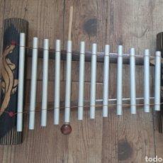 Instrumentos musicales: XILOFONO , INSTRUMENTO MUSICAL ,LAGARTOS, CAÑA DE BAMBU Y METAL, INST365. Lote 49329141