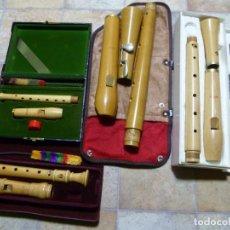 Instrumentos musicales: LOTE DE 3 FLAUTAS MOECK TENOR,ALTO,SOPRANO. Lote 241958330
