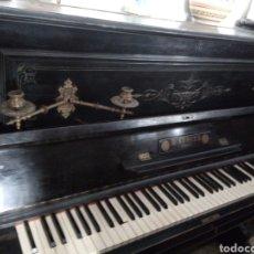 Instrumentos musicales: PIANO ANTIGUO MARCA H LUBITZ. Lote 242101345
