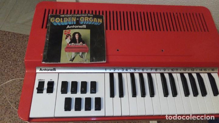 """Instrumentos musicales: Organo 1969 """"Golden Organ Antonelli"""" con teclado Polifónico y Pie desmontable mod 27/8 VSP - Foto 2 - 242908425"""