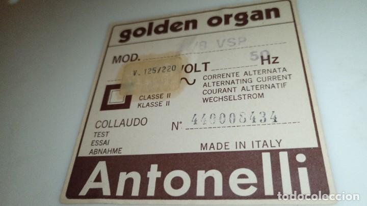 """Instrumentos musicales: Organo 1969 """"Golden Organ Antonelli"""" con teclado Polifónico y Pie desmontable mod 27/8 VSP - Foto 8 - 242908425"""