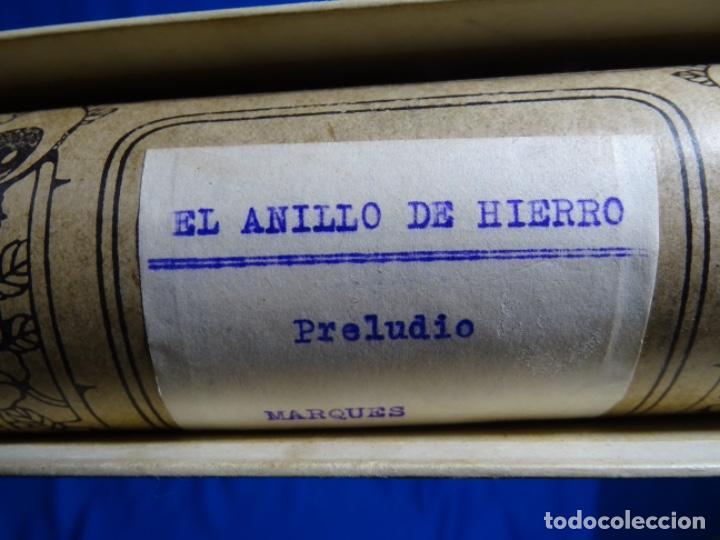 Instrumentos musicales: ROLLO DE PIANOLA EL ANILLO DE HIERRO. 1195. MARQUÉS. - Foto 2 - 245019225