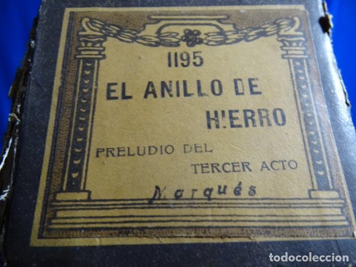 Instrumentos musicales: ROLLO DE PIANOLA EL ANILLO DE HIERRO. 1195. MARQUÉS. - Foto 3 - 245019225