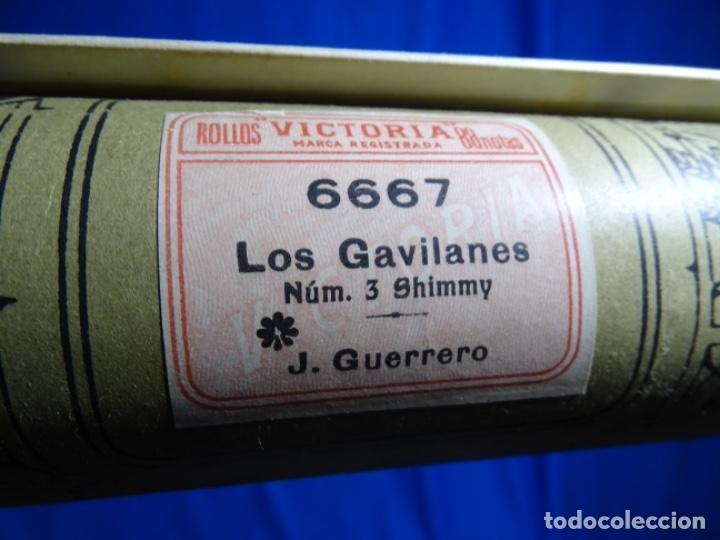 Instrumentos musicales: ROLLO DE PIANOLA. LOS GAVILANES. J. GUERRERO. 6667. - Foto 2 - 245022800