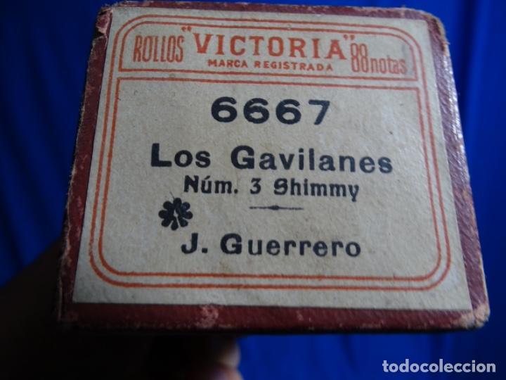 Instrumentos musicales: ROLLO DE PIANOLA. LOS GAVILANES. J. GUERRERO. 6667. - Foto 3 - 245022800
