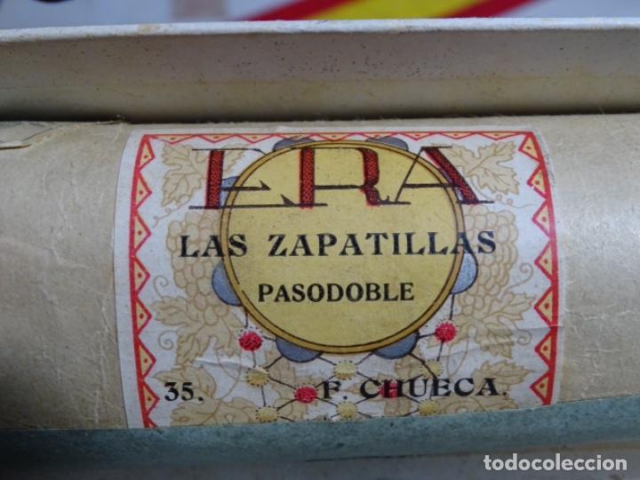 Instrumentos musicales: ROLLO DE PIANOLA. LAS ZAPATILLAS. PASODOBLE. F, CHUECA. 35 - Foto 2 - 245023085