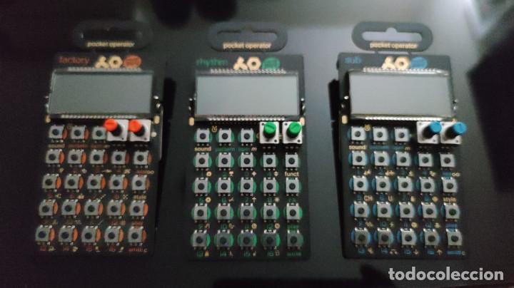 LOTE 3 POCKET OPERATOR - TEENAGE ENGINEERING PO-14 SUB + PO-12 + PO-16 DRUM MACHINES CAJAS DE RITMOS (Música - Instrumentos Musicales - Teclados Eléctricos y Digitales)