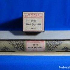 Instrumentos musicales: ROLLO DE PIANOLA. GRAN POLONESA. OP. 22. CHOPIN.. Lote 245721995