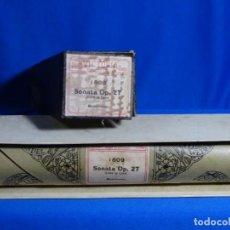 Instrumentos musicales: ROLLO DE PIANOLA. SONATA. OP 27. CLARO DE LUNA. BEETHOVEN.. Lote 245729810