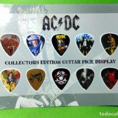 Instrumentos musicales: AC/DC. COLECCIÓN DE 10 PUAS DE GUITARRA.. Lote 246333550