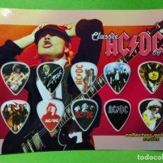 Instrumentos musicales: AC/DC. COLECCIÓN DE 10 PÚAS DE GUITARRA.. Lote 246334440