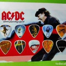 Instrumentos musicales: AC/DC. COLECCIÓN DE 10 PÚAS DE GUITARRA.. Lote 246334730