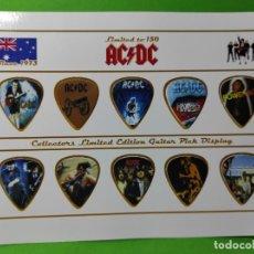 Instrumentos musicales: AC/DC. COLECCIÓN DE 10 PÚAS DE GUITARRA.. Lote 246335175