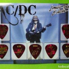 Instrumentos musicales: AC/DC. COLECCIÓN DE 7 PÚAS DE GUITARRA.. Lote 246335900