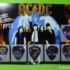 Instrumentos musicales: AC/DC. COLECCIÓN DE 6 PÚAS DE GUITARRA.. Lote 246337110
