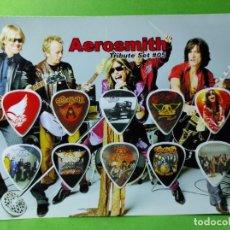 Instrumentos musicales: AEROSMITH. COLECCIÓN DE 10 PÚAS DE GUITARRA.. Lote 246337960