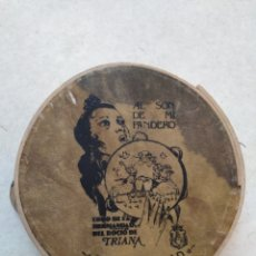 Strumenti musicali: PANDERETA ANTIGUA, AL SON DE MI PANDERO, CORO HERMANDAD DEL ROCÍO DE TRIANA, FELIZ NAVIDAD. Lote 247006390