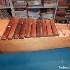 Instrumentos musicales: RAF - XILÓFONO XILOFÓN MADERA 21 X 63 CM. - FALTAN 3 PIEZAS - VER FOTOS Y DETALLES. Lote 247937180