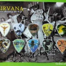 Instrumentos musicales: NIRVANA.. COLECCIÓN DE 10 PÚAS DE GUITARRA.. Lote 248289155