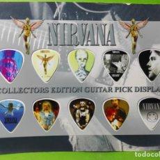 Instrumentos musicales: NIRVANA.. COLECCIÓN DE 10 PÚAS DE GUITARRA.. Lote 248289330