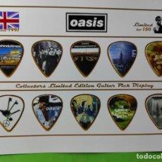 Instrumentos musicales: OASIS. COLECCIÓN DE 10 PÚAS DE GUITARRA.. Lote 248291305