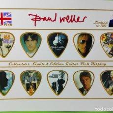 Instrumentos musicales: PAUL WELLER COLECCIÓN DE 10 PÚAS DE GUITARRA.. Lote 248295480