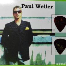 Instrumentos musicales: PAUL WELLER COLECCIÓN DE 2 PÚAS DE GUITARRA.. Lote 248296740